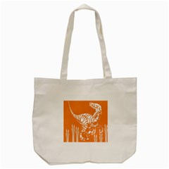 Animals Dinosaur Ancient Times Tote Bag (cream) by Mariart