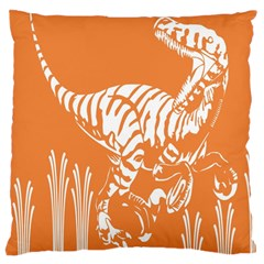 Animals Dinosaur Ancient Times Large Cushion Case (one Side) by Mariart