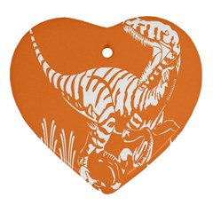 Animals Dinosaur Ancient Times Heart Ornament (two Sides)