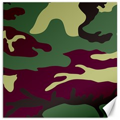 Camuflage Flag Green Purple Grey Canvas 12  X 12   by Mariart