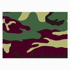 Camuflage Flag Green Purple Grey Large Glasses Cloth (2-side)