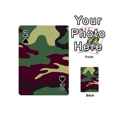 Camuflage Flag Green Purple Grey Playing Cards 54 (mini)  by Mariart