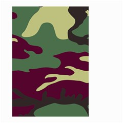 Camuflage Flag Green Purple Grey Small Garden Flag (two Sides) by Mariart