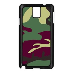 Camuflage Flag Green Purple Grey Samsung Galaxy Note 3 N9005 Case (black) by Mariart