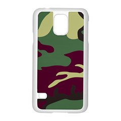 Camuflage Flag Green Purple Grey Samsung Galaxy S5 Case (white) by Mariart