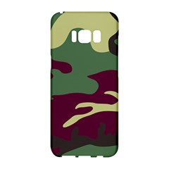 Camuflage Flag Green Purple Grey Samsung Galaxy S8 Hardshell Case  by Mariart