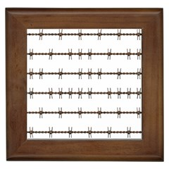 Barbed Wire Brown Framed Tiles by Mariart