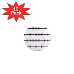 Barbed Wire Brown 1  Mini Magnet (10 Pack)  by Mariart