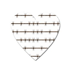 Barbed Wire Brown Heart Magnet by Mariart
