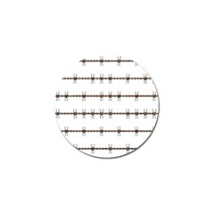 Barbed Wire Brown Golf Ball Marker (10 Pack) by Mariart