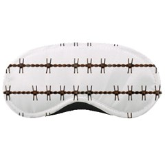 Barbed Wire Brown Sleeping Masks by Mariart