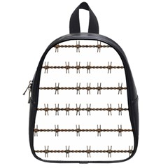 Barbed Wire Brown School Bag (small)