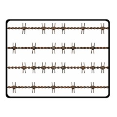 Barbed Wire Brown Fleece Blanket (small)