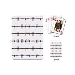 Barbed Wire Brown Playing Cards (mini)  by Mariart