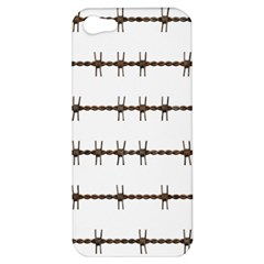 Barbed Wire Brown Apple Iphone 5 Hardshell Case by Mariart