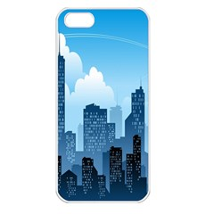 City Building Blue Sky Apple Iphone 5 Seamless Case (white)