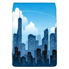 City Building Blue Sky Flap Covers (l)  by Mariart