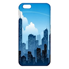 City Building Blue Sky Iphone 6 Plus/6s Plus Tpu Case by Mariart