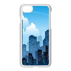City Building Blue Sky Apple Iphone 8 Seamless Case (white)