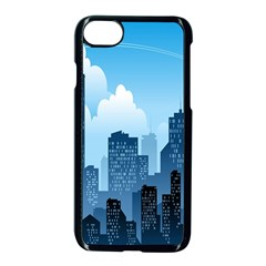 City Building Blue Sky Apple Iphone 8 Seamless Case (black) by Mariart