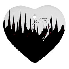 City History Speedrunning Heart Ornament (two Sides) by Mariart