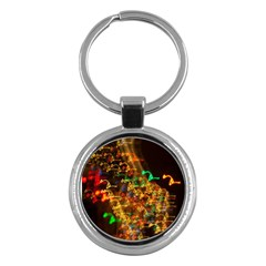 Christmas Tree Light Color Night Key Chains (round)  by Mariart