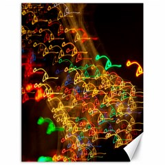 Christmas Tree Light Color Night Canvas 18  X 24   by Mariart