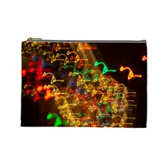 Christmas Tree Light Color Night Cosmetic Bag (large)  by Mariart