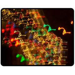Christmas Tree Light Color Night Fleece Blanket (medium)  by Mariart