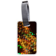 Christmas Tree Light Color Night Luggage Tags (one Side)