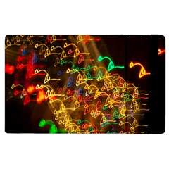 Christmas Tree Light Color Night Apple Ipad 2 Flip Case by Mariart
