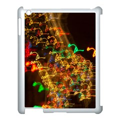 Christmas Tree Light Color Night Apple Ipad 3/4 Case (white) by Mariart