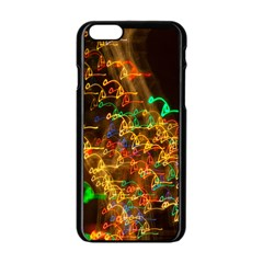 Christmas Tree Light Color Night Apple Iphone 6/6s Black Enamel Case