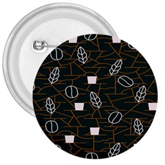 Espresso Cofee Glass Line Chevron 3  Buttons by Mariart