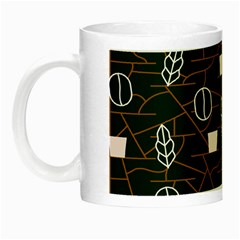 Espresso Cofee Glass Line Chevron Night Luminous Mugs by Mariart