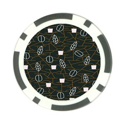 Espresso Cofee Glass Line Chevron Poker Chip Card Guard by Mariart