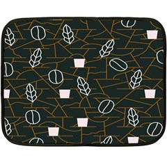 Espresso Cofee Glass Line Chevron Double Sided Fleece Blanket (mini)