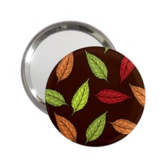 Autumn Leaves Pattern 2 25  Handbag Mirrors