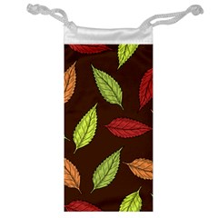 Autumn Leaves Pattern Jewelry Bag