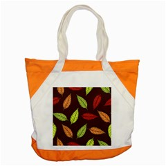 Autumn Leaves Pattern Accent Tote Bag