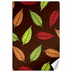 Autumn Leaves Pattern Canvas 12  X 18