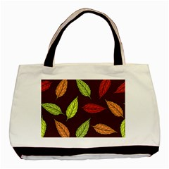 Autumn Leaves Pattern Basic Tote Bag (two Sides)