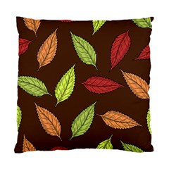 Autumn Leaves Pattern Standard Cushion Case (two Sides) by Mariart