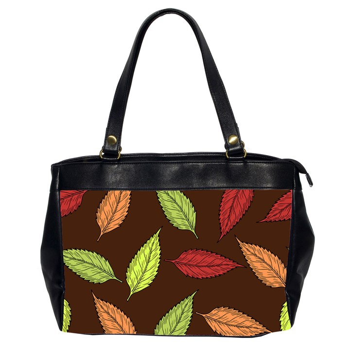 Autumn Leaves Pattern Office Handbags (2 Sides)