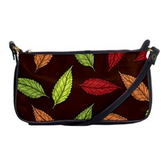 Autumn Leaves Pattern Shoulder Clutch Bags by Mariart