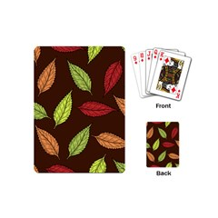 Autumn Leaves Pattern Playing Cards (mini)