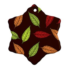 Autumn Leaves Pattern Ornament (snowflake)