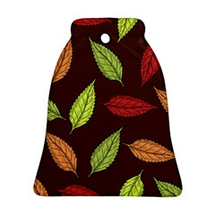 Autumn Leaves Pattern Ornament (bell) by Mariart