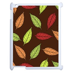Autumn Leaves Pattern Apple Ipad 2 Case (white) by Mariart