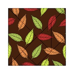 Autumn Leaves Pattern Acrylic Tangram Puzzle (6  X 6 ) by Mariart